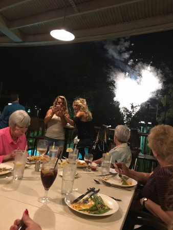 Florence, AL: Fireworks display at the end of our meal.