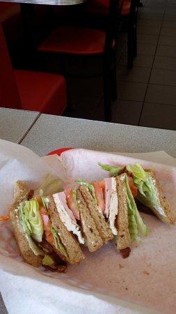 Menlo Park, CA: One half of the club sandwich