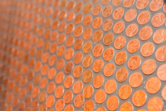 Bentleyville, Pensilvania: Penny Wall in our Vault