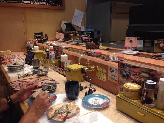 Hashima, Japonia: Erogatore di the verde e salse
