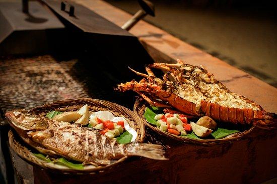 Turtle Inn: Grilled lobster at Gaugin Grill