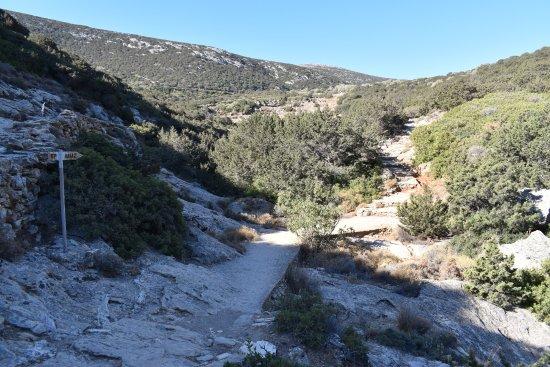Sifnos, Grecja: Wanderweg auf den Profitis Ilias