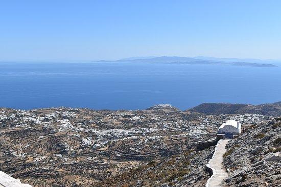 Sifnos, Grecja: Ausblick auf Kastro, apollonia etc.