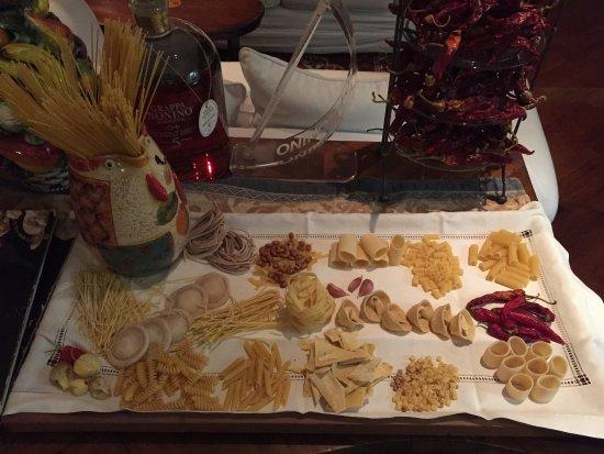 Ristorante Max: samples of their fresh homemade pasta
