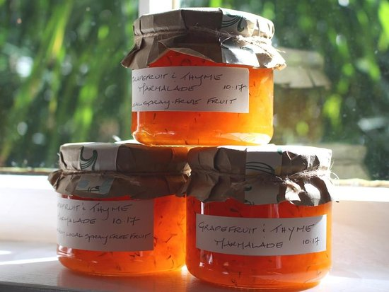 Creel Tackle House & Cafe: Homemade preserves, like this grapefruit and thyme marmalade sold in the cafe.