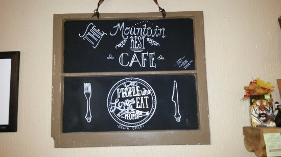Mountain Rest, SC: Pretty cool hand made sign.