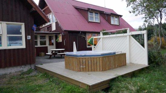 Borgarnes, Iceland: Outdoor hot tub