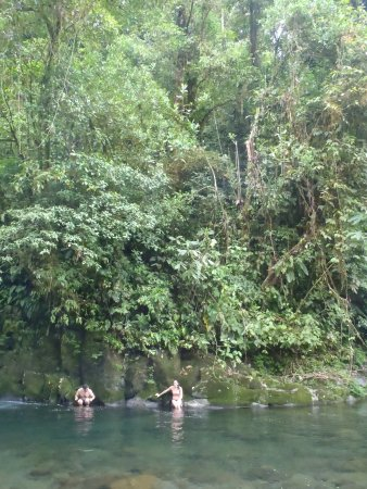 Guapiles, Costa Rica: swimming at the edge of the national park