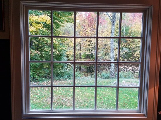 New London, NH: View from breakfast sitting room