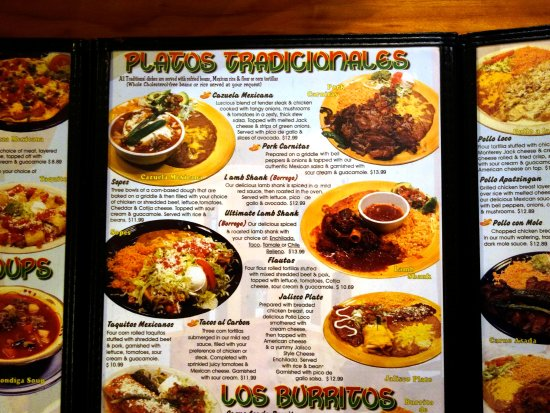 Red Bluff, Califórnia: Carlitos Menu