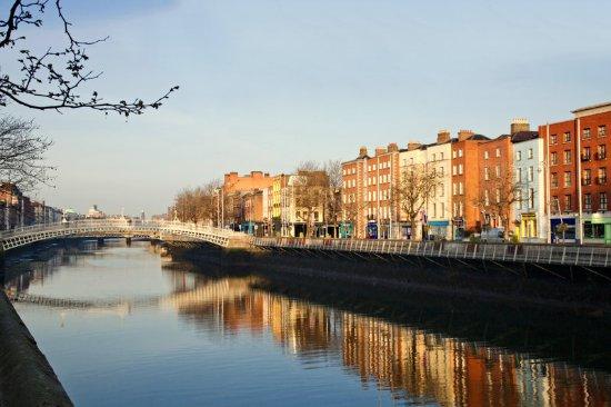 The Westin Dublin: The Liffey and The Ha'Penny Bridge