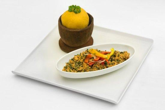 Sheraton Abuja Hotel : Nigerian Food Shot - Eba & Egusi Soup