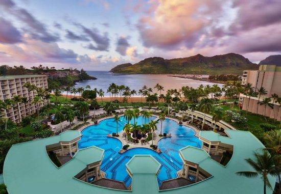 Kaua'i Marriott Resort: Outdoor Pool - Aerial View