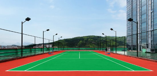 Yuhuan City, China: Tennis Court
