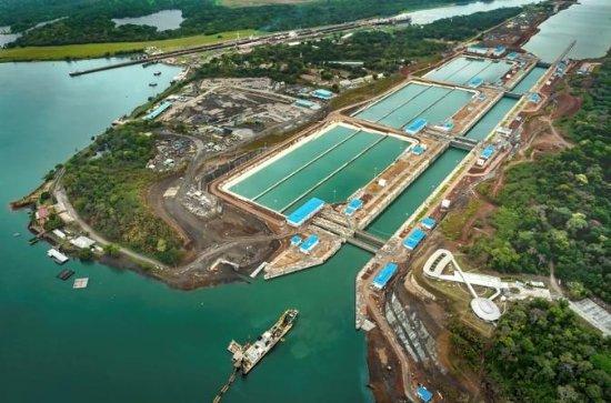 Panama Canal Train, Agua Clara Canal...