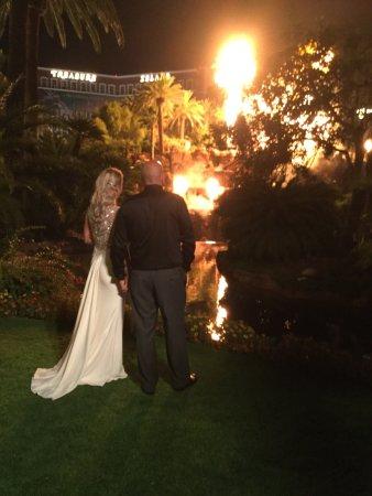 The Mirage Hotel Volcano Wedding October 7th