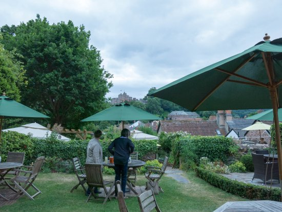 The Luttrell Arms: The delightful beer garden
