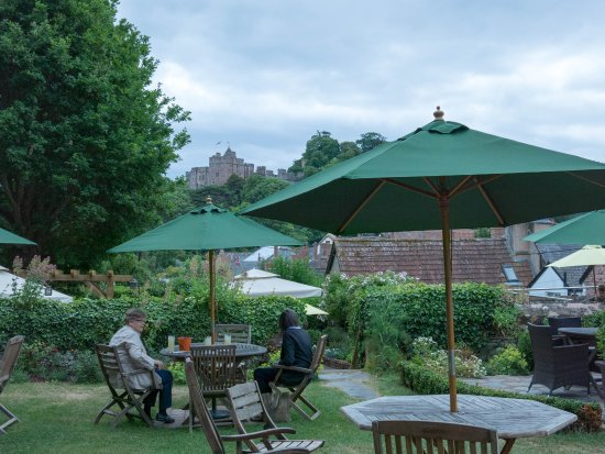 The Luttrell Arms: The beer garden