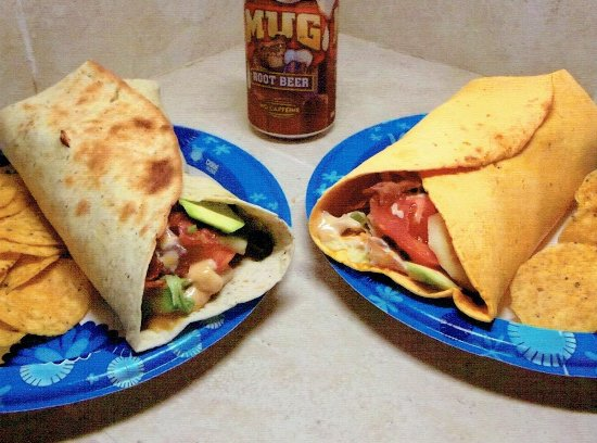 "Mountainburg, AR: ""Monster Wraps"" with Baked Chicken, Roast Beef or Turkey. $5.50"