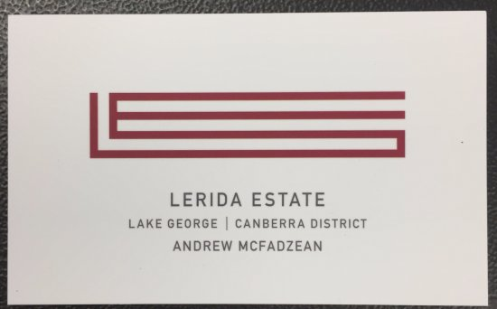 Lerida Estate business card - front view