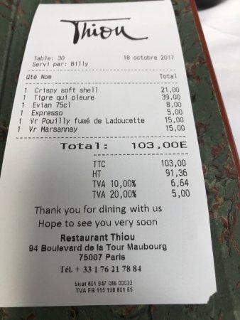 Restaurant Thiou Paris