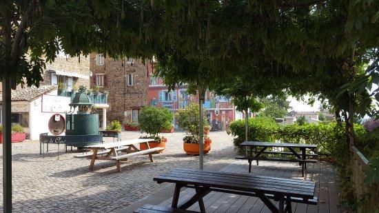 Vaux-en-Beaujolais, Francia: Tonnelle ombragée pour déguster le bon verre de Beaujolais
