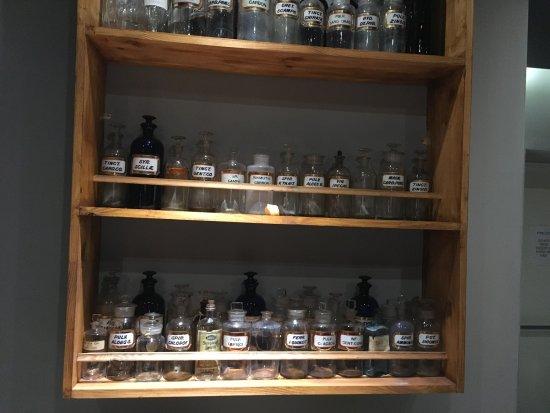 "Helmsdale, UK: Bottles in the ""shop"""