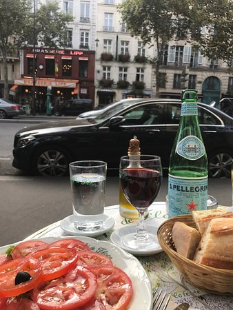 Cafe de Flore: View from the table across the street