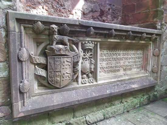 Coniston, UK: Grave in Lanercost Priory church