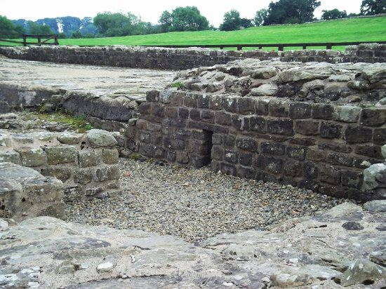 Coniston, UK: Part of the hypocaust under the granary at Birdoswald