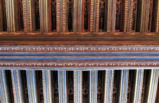 Azay-le-Rideau, فرنسا: Plafond de la grande salle