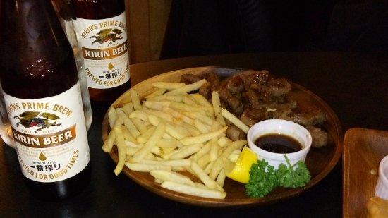 Nozawaonsen-mura, Japan: Waygu Steak and Fries.