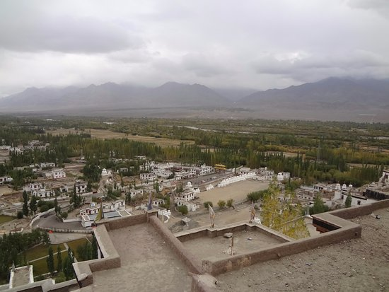 view from Thiksey Monastery