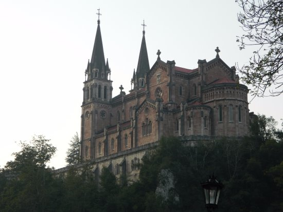 Basílica de Santa María la Real de Covadonga: View from below