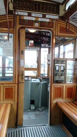 Ringsted, Danimarca: Indefra en gammel sporvogn