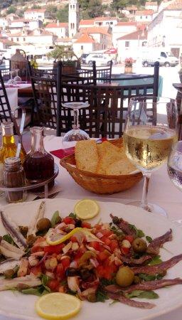 Island of Vis, Croacia: Oktopus-Salat