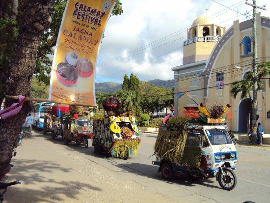 Jagna fiesta, parade of tricycles