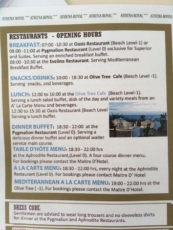 Constantinou Bros Athena Royal Beach Hotel: incorrect information