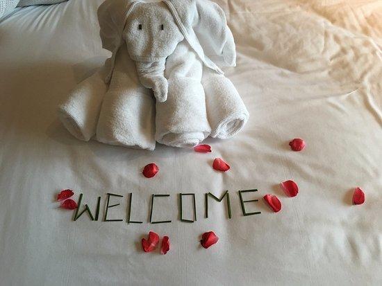 Cape Panwa, Thailand: Welcome towel.