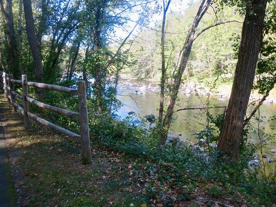 Farmington River Trail: View of Farmington River from trail