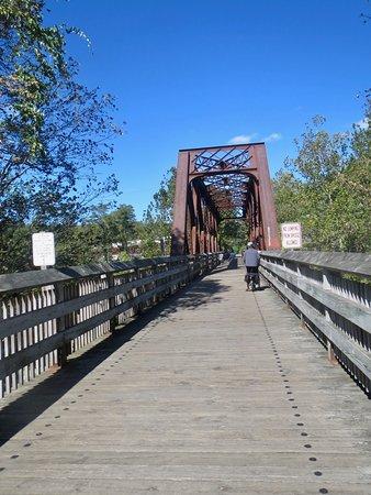 Farmington River Trail: Train trestle just after Collinsville