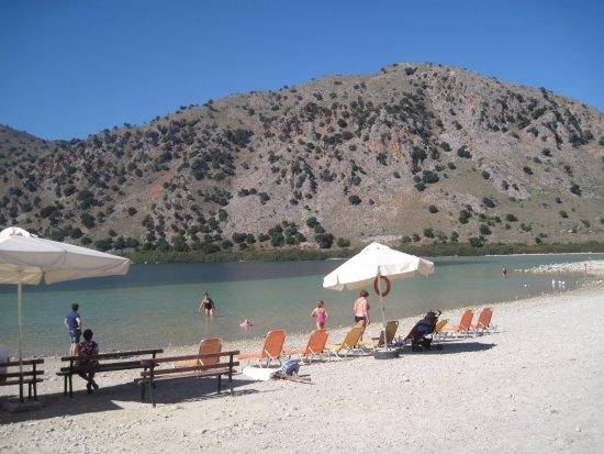 Kournas, Grecia: Lakeside beach