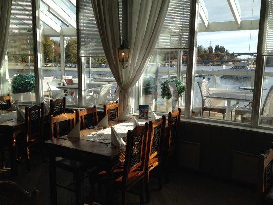 Heinola, Suomi: view to the railway bridge adn river