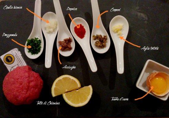 Comerio, Italia: Tartare di Chianina certificata e preparata al momento