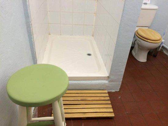 The Royal Oak Inn: Camp shower & loo - basic but clean!
