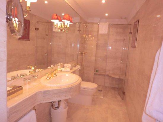 Narutis Hotel: 洗面所とシャワールーム