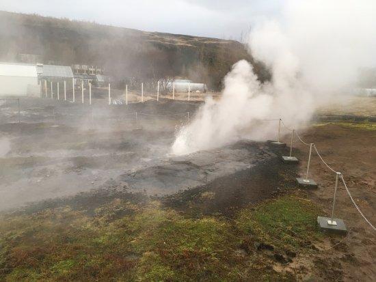 Fludir, Ισλανδία: Little Geyser!