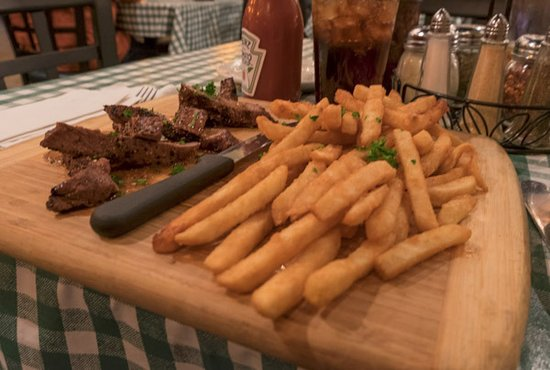 Jerlando's Ristorante & Pizza Co.: Tavern Steak perfectly done - lots of fries...