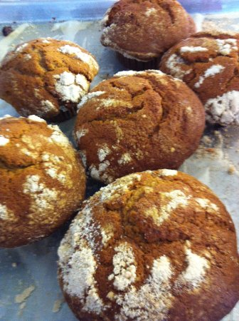Castro Valley, CA: giant pumpkin muffins