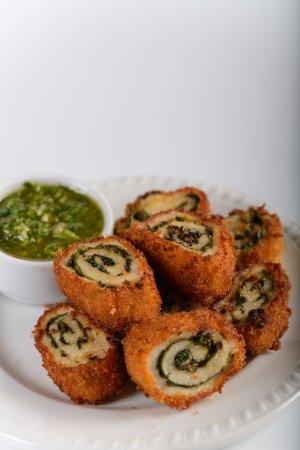 Moshav Ramot: Chicken Rolls and Pesto